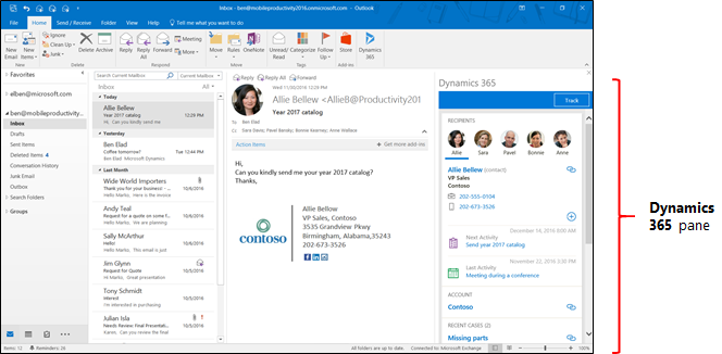 Dynamics 365 App For Outlook Users Guide Microsoft Docs