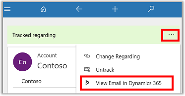 View email in Dynamics 365