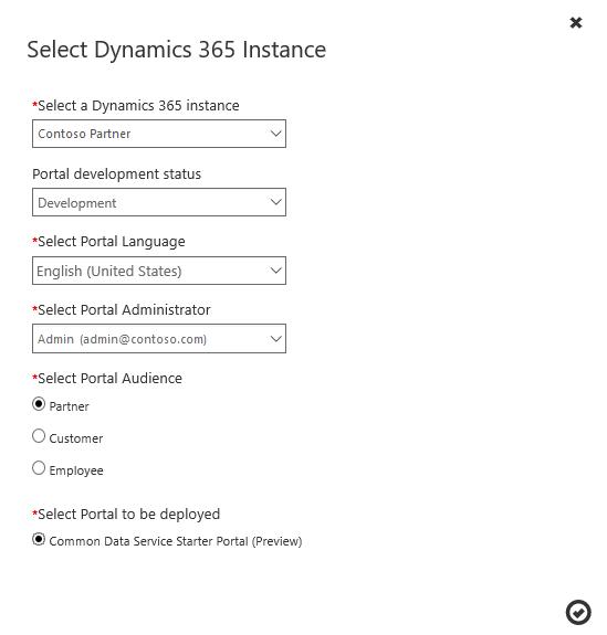 Create a Common Data Service starter portal in Dynamics 365