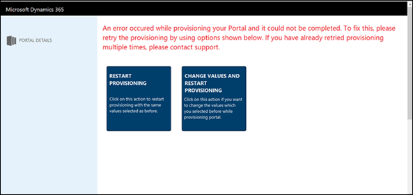 Provision a portal for Dynamics 365 for Customer Engagement