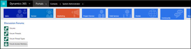 Manage forum access permissions in Dynamics 365 for Customer