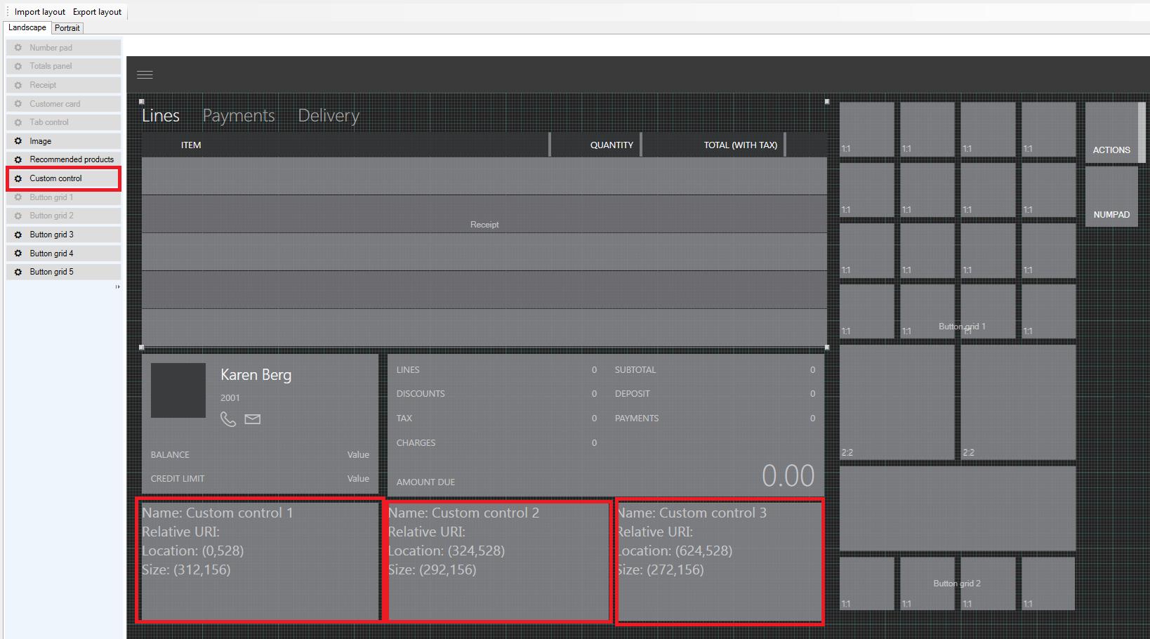 Pos Screen Layout Designer In Cart View