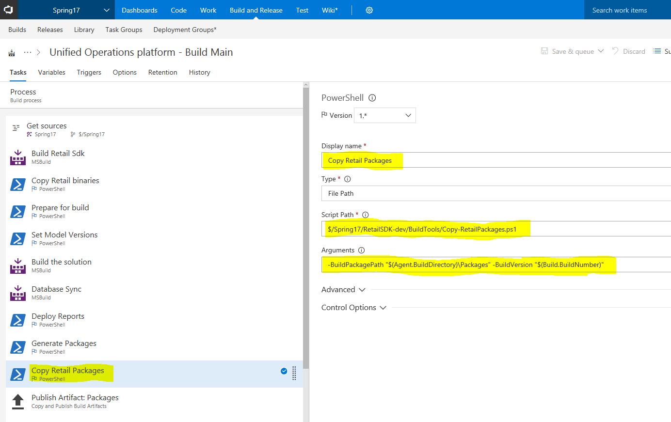 Integrate the retail sdk with the dynamics 365 unified operations adding a copy step for all retail packages xflitez Gallery