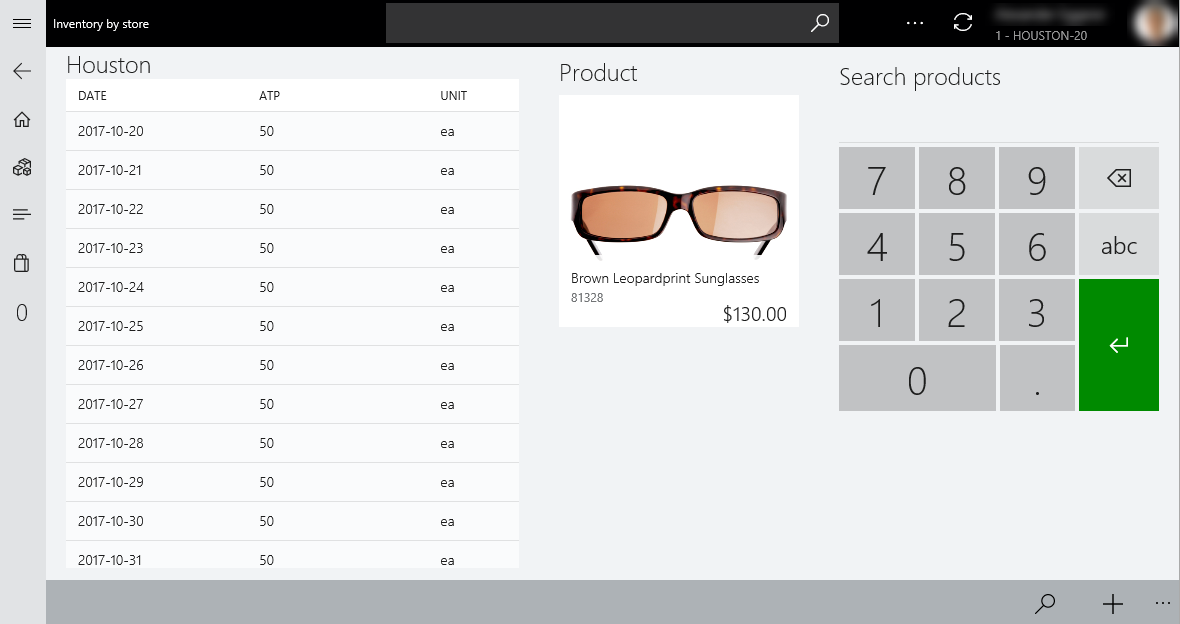 Inventory Lookup In The Point Of Sale Pos Finance Operations