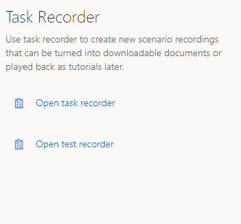 Task and Test recorders