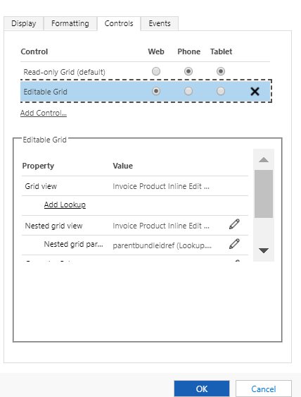 editable products grid on opportunity quote order and invoice