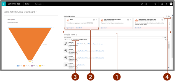 Relationship assistant for Dynamics 365 for Customer Engagement