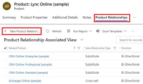 Define related products to increase sales (Dynamics 365 for