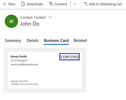 Scan Business Cards Dynamics 365 Sales Microsoft Docs