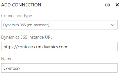 Add connection to Dynamics 365 (on-premises)