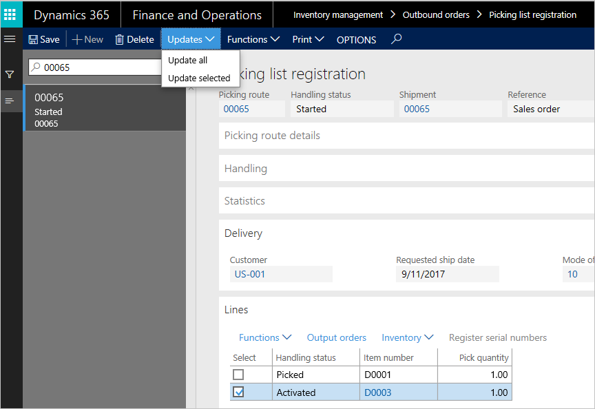 Outbound process overview - Finance & Operations | Dynamics 365