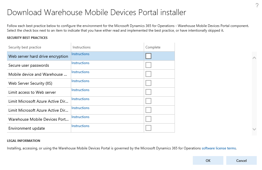 Warehouse Mobile Devices Portal Wmdp For Finance And Operations