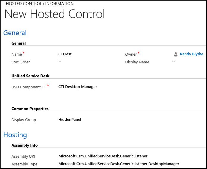 Configure CTI Dekstop Manager Hosted Control