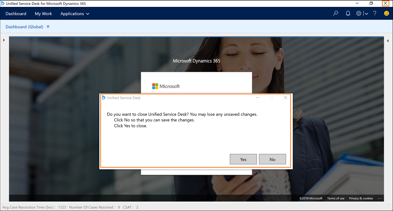 Configure close confirmation window to prevent accidental