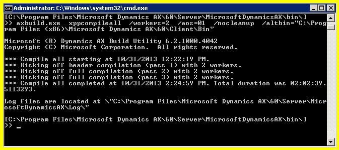 Console for AxBuild.exe