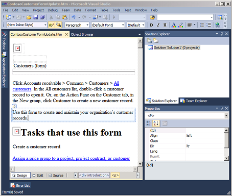Walkthrough: Updating Existing Help Documentation   Microsoft Docs