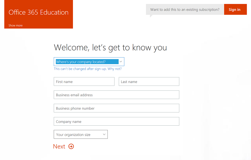 Set up an Office 365 Education tenant | Microsoft Docs