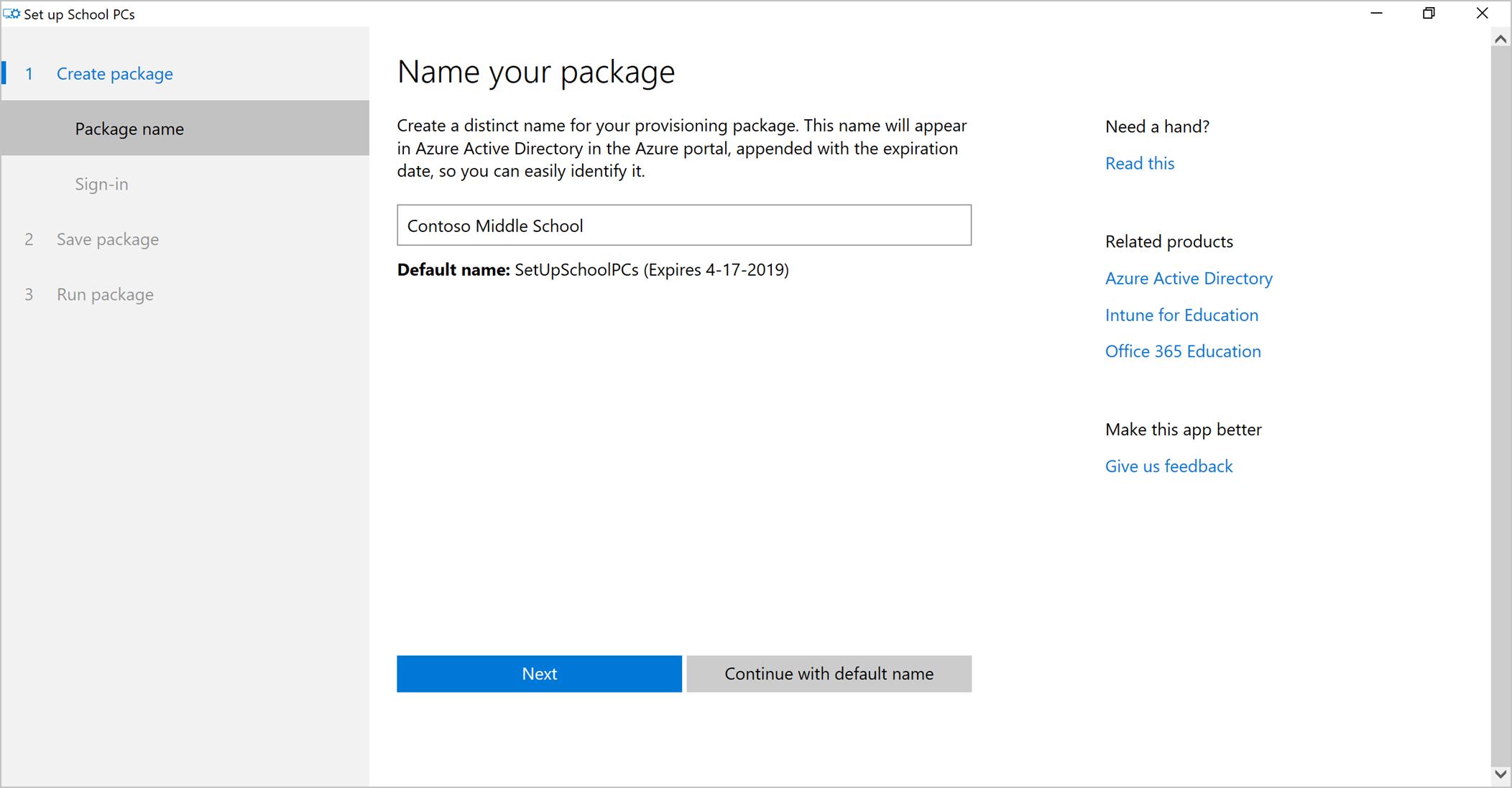 Use Set Up School Pcs App Microsoft Docs