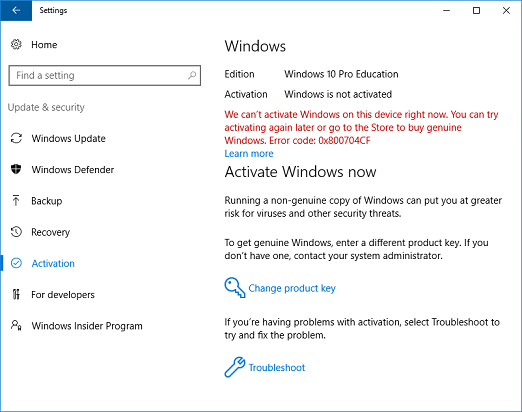 Change to windows 10 education from windows 10 pro microsoft docs windows 10 not activated and subscription active ccuart Choice Image