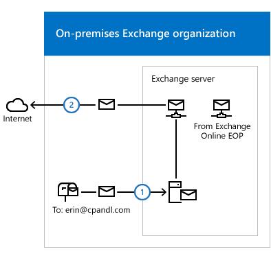 Transport routing in Exchange hybrid deployments | Microsoft