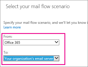 Set up connectors to route mail between Office 365 and your