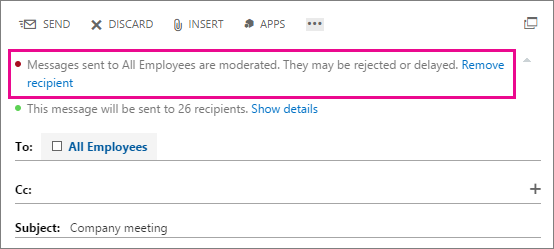 Manage message approval in Exchange Online | Microsoft Docs