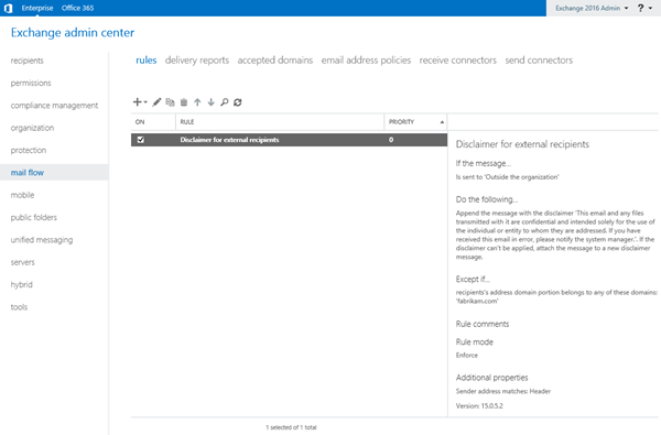 Procedures for mail flow rules in Exchange Server   Microsoft Docs