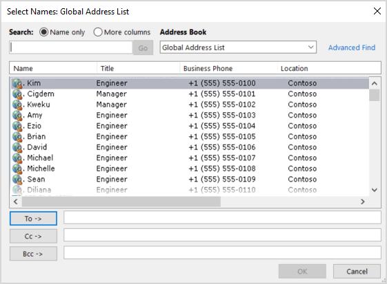 Distribution group not updating global address list