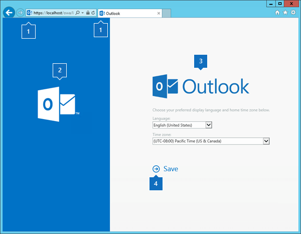 Customize the Outlook on the web sign-in, language selection