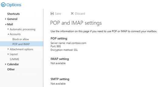 Enable and configure POP3 on an Exchange server | Microsoft Docs