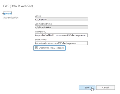Enable the MRS Proxy endpoint for remote moves | Microsoft Docs