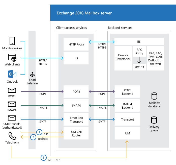 Exchange Server architecture | Microsoft Docs