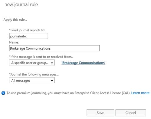 Journaling procedures in Exchange Server | Microsoft Docs