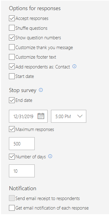 Survey invitation settings - Microsoft Forms Pro | Microsoft
