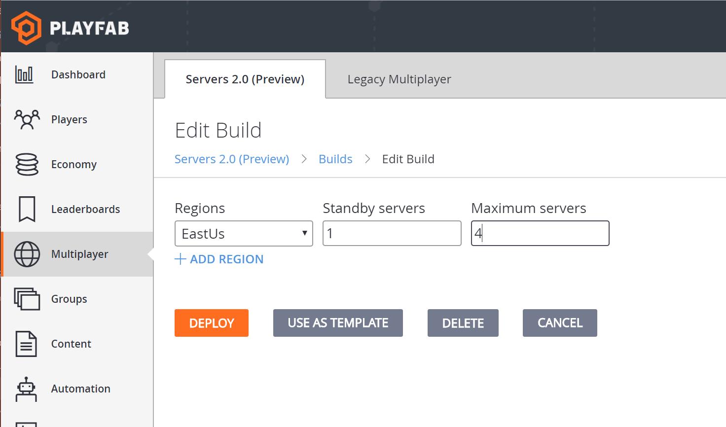 Quickstart for multiplayer servers (Game Manager) - PlayFab