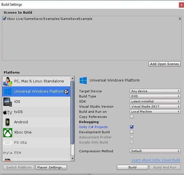 Configuring Xbox Live in Unity - Xbox Live | Microsoft Docs