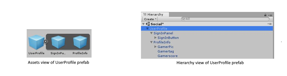 Sign-in in Unity through prefabs or scripting (pre-1804