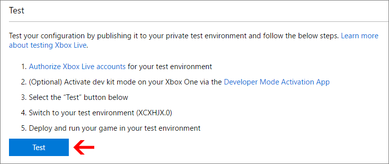 Testing a Unity game build in Visual Studio - Xbox Live