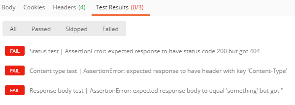 validation response test results