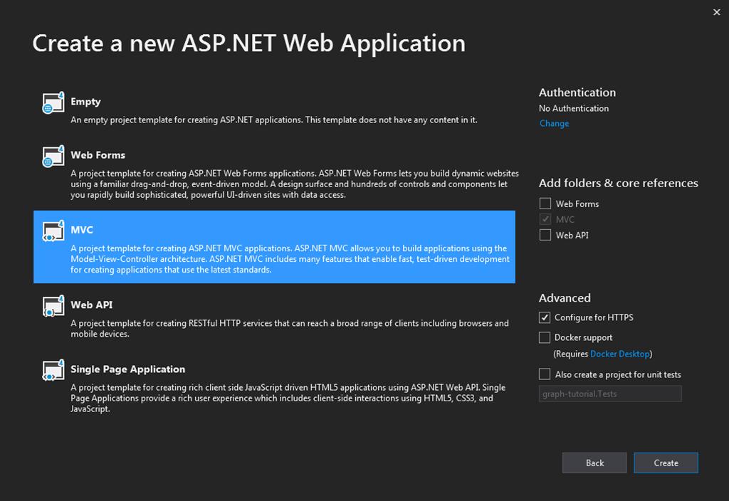 Build ASP NET MVC apps with Microsoft Graph - Microsoft Graph
