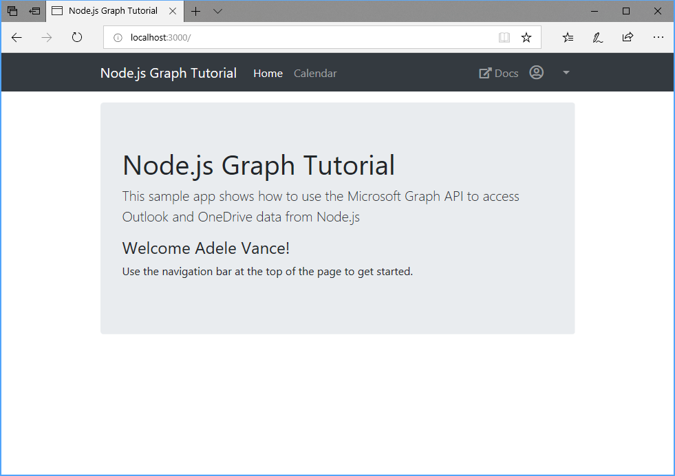 Build Node js Express apps with Microsoft Graph - Microsoft Graph