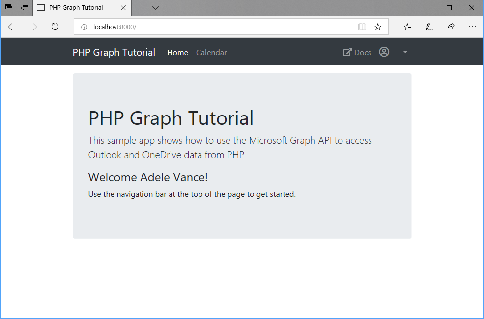 Build PHP apps with Microsoft Graph - Microsoft Graph