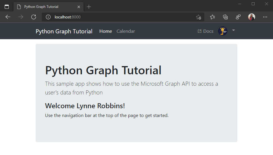 Build Python Django apps with Microsoft Graph - Microsoft