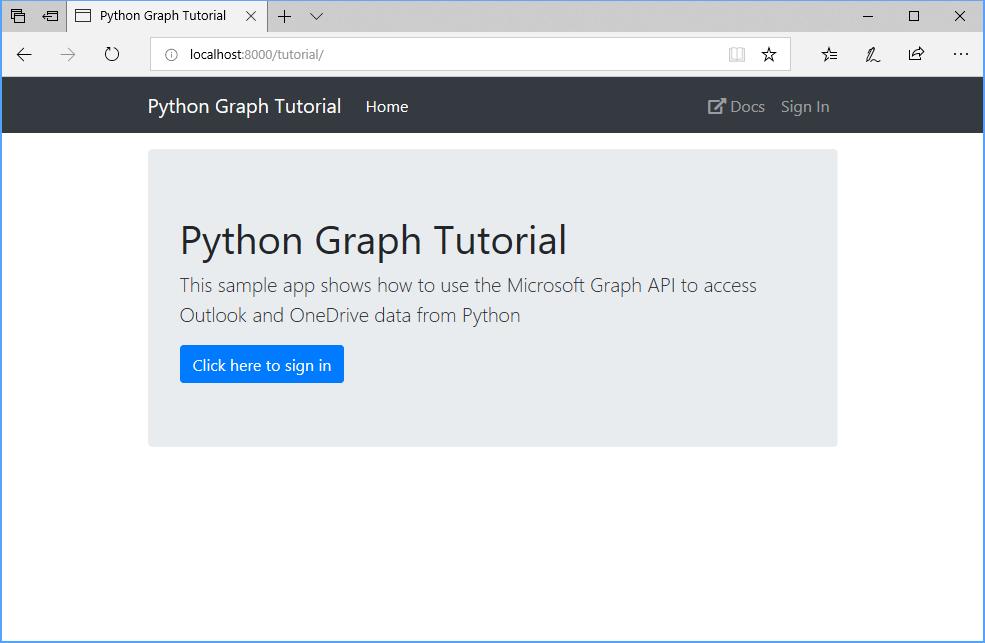 Build Python Django apps with Microsoft Graph - Microsoft Graph