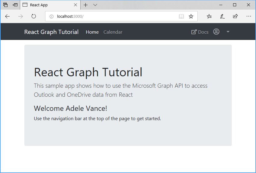 Build React single-page apps with Microsoft Graph - Microsoft Graph