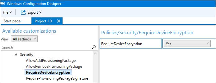Enable Bitlocker encryption for HoloLens (HoloLens