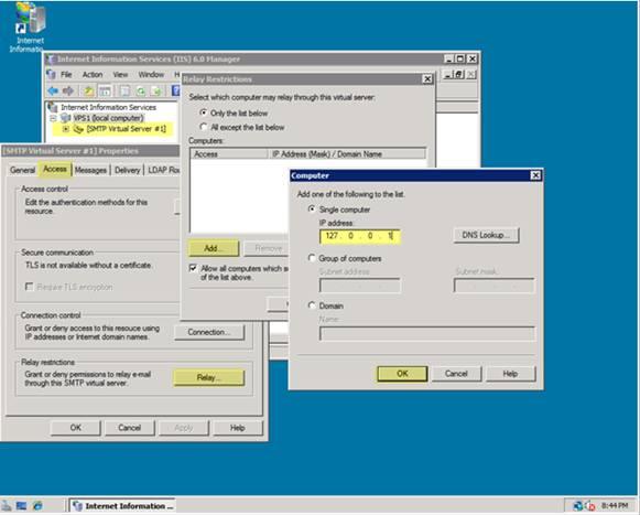 Configure SMTP E-Mail in IIS 7 | Microsoft Docs
