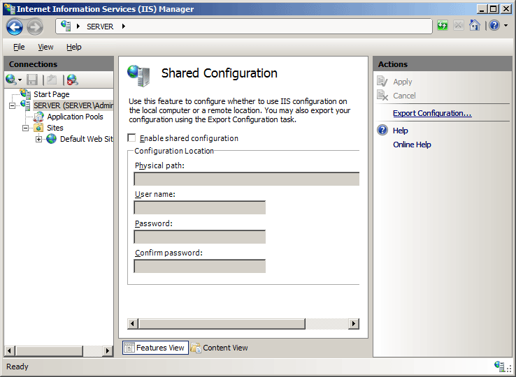 Configuration Redirection <configurationRedirection