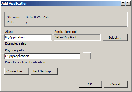 iis application root path