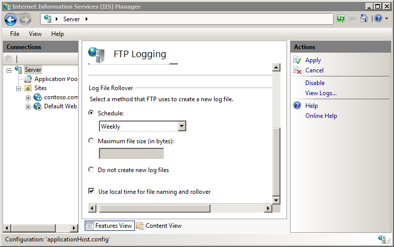 FTP Log Files <logFile> | Microsoft Docs